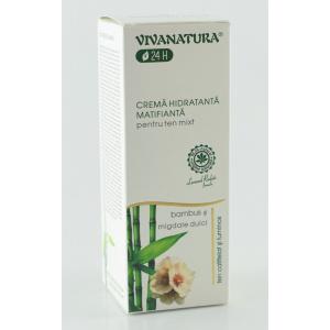 VivaNatura Cremă de față hidratantă și matifiantă pentru ten mixt, 45 ml