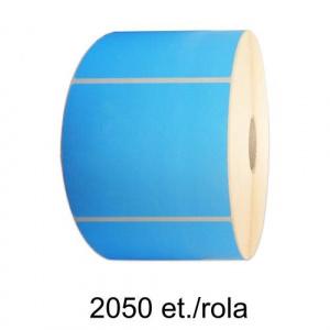 ZINTA Role etichete semilucioase albastre 100x70mm, 2050 et./rola - 100X70X2050-SGP-BLUP
