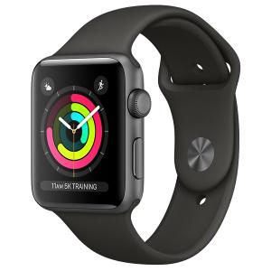 Apple Watch Series 3 GPS Space Grey Aluminium, 42mm, Black Band