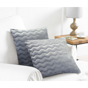 Country Club Set 2 fete de perna Wavy Grey 43x43 cm