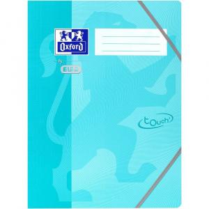 Oxford Mapa carton cu elastic pe colturi School Touch - aqua 400103393