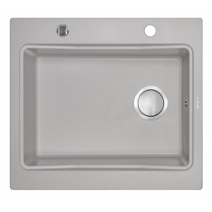 Deante Chiuveta de bucatarie Modern ZQM S103, 1 cuva, granit, 520x590 mm, gri
