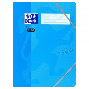 Oxford Mapa carton cu elastic pe colturi School Touch - bleu 400103391