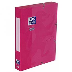 Oxford Mapa carton cu elastic, 45mm latime School Touch - roz 400103413