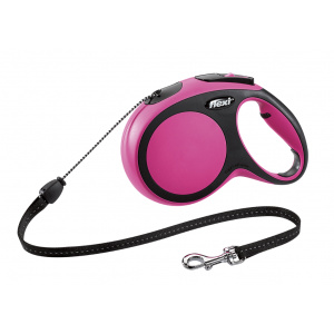Flexi Comfort S - 5 m lesă tip șnur pink