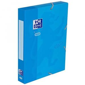 Oxford Mapa carton cu elastic, 45mm latime School Touch - bleu 400103412