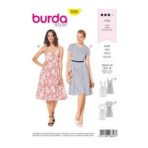 Burda Style Tipar Burda rochii casual 6343