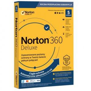 Symantec Norton 360 Deluxe 1user/5device, 12 luni, Poloneza, Box