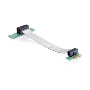 Delock Riser card PCI Express x1 with flexible cable left insertion 41839