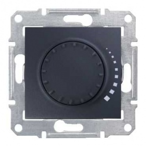 Schneider Electric SDN2200670 : Sedna - rotary dimmer - 325VA, without frame graphite