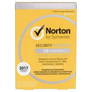 Symantec NORTON SECURITY PREMIUM 1user/10device, 12 luni, Poloneza, BOX