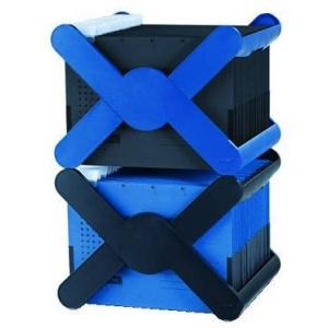 Han Suport plastic pentru 35 dosare suspendabile, cu capac X-Cross Top - albastru