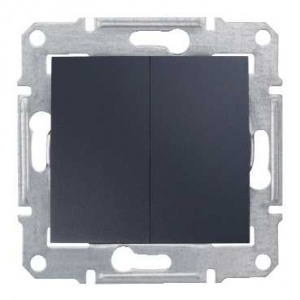 Schneider Electric SDN0300170 : Sedna - 1pole 2-circuits switch - 10AX without frame graphite