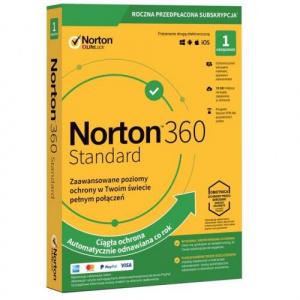 Symantec Norton 360 Standard 1user/1device, 12luni, Poloneza, Box