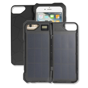 4smarts Husa Smart protectie spate MIAMI Solar Power-Bank-Case 2500 mAh pentru Apple iPhone 6S / 6 - Black