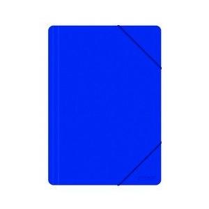 OFFICE PRODUCTS Mapa plastic cu elastic pe colturi, 500 microni - albastru