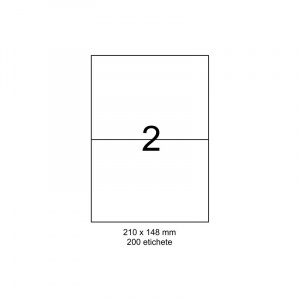 SMART labels Etichete autoadezive albe mate colturi drepte 2/A4(210x148mm)