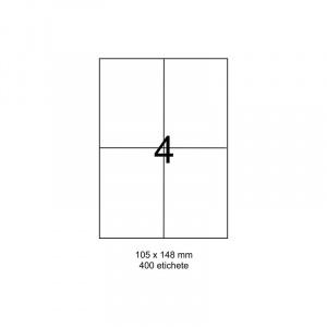 SMART labels Etichete autoadezive albe mate colturi drepte 4/A4(190x61mm)