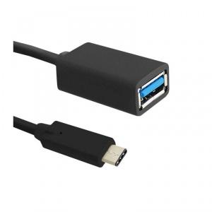 Qoltec USB 3.1 type C Male - USB 3.0 Female 0.5m Black (50486)