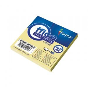 Forpus Notite adezive 42000 75x75mm 100 file galben