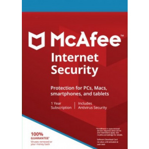 McAfee Internet Security, 3 PCs, 1 Year