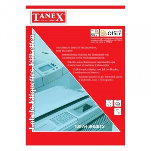 TANEX Top 100 bucati etichete autoadezive albe 27/A4 (70x32.125mm)