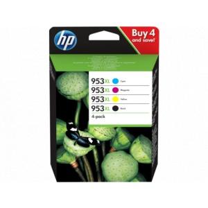 HP 953XL 4-pack High Yield Black/Cyan/Magenta/Yellow Original Ink Cartridges (3HZ52AE)