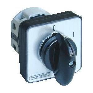 Tracon Electric Întrerupător manual, ON-OFF - 400V, 50Hz, 25A, 2P, 7,5kW, 48x48mm, 60°