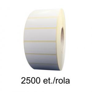 ZINTA Role etichete termice 80x30mm, fi 76, 2500 et./rola - 80X30X2500X76-TH