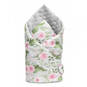 Sensillo Velvet Wrap Flori Gri 75x75 cm