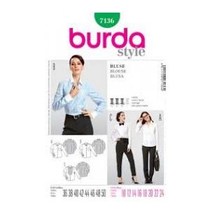 Burda Style Hemdbluse - Plastron mit Fältchen 7136