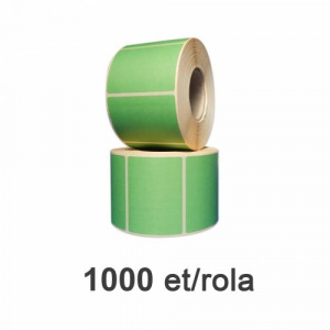 ZINTA Role etichete termice verzi 58x43 mm, 1000 et./rola - 58X43X1000-TH-GREEN-REM