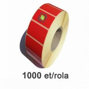 ZINTA Role etichete termice detasabile rosii 58x43mm, 1000 et./rola - 58X43X1000-TH-RED-REM