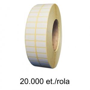 ZINTA Role etichete semilucioase 30x15mm, 2 et./rand, 20.000 et./rola - 30X15X20000-SGP-2C