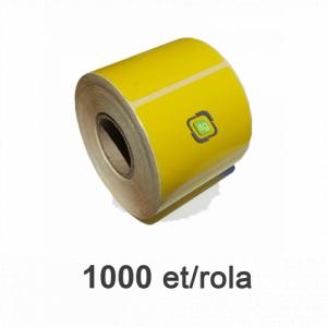 ZINTA Role etichete termice galbene 58x43mm, 1000 et./rola, adeziv removable - 58X43X1000-TH-YEL-REM
