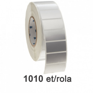 ZINTA Role etichete de plastic argintii 100x144 mm, 1010 et./rola - 100X144X1010-PE-SILVER