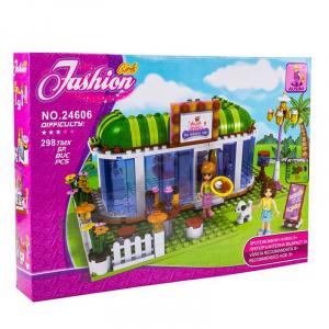 Ausini Set constructie cofetarie Fashion Girls, 298 piese
