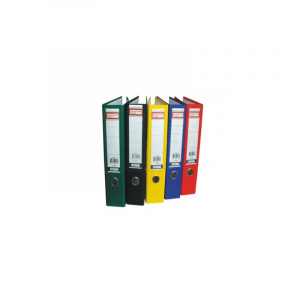 Alphaline Biblioraft colorat din carton plastifiat 80 mm Roz