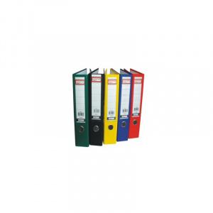 Alphaline Biblioraft colorat din carton plastifiat 80 mm Gri