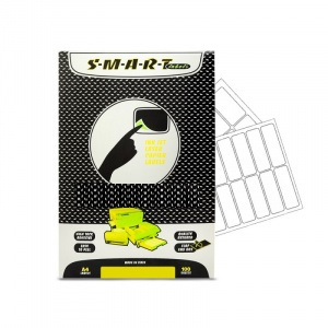 SMART labels Etichete albe autocolante mate colturi rotunjite 46/A4(100x10mm)