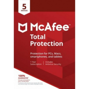 McAfee Total Protection, 5 Devices, 1 Year, Licenta Electronica