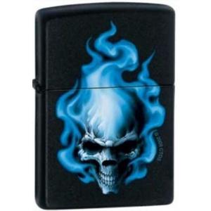 Zippo Blue Flame Skull 0414