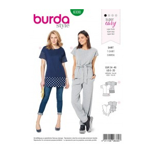 Burda Style Tipar Burda bluze femei 6330