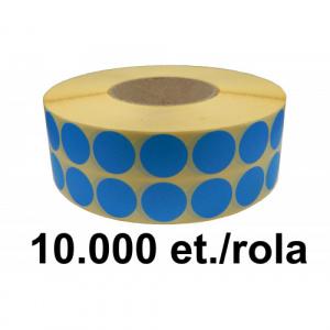 ZINTA Role etichete semilucioase rotunde albastre 27mm, 10.000 et./rola - 27X27X10000-SGP-R-BLUP