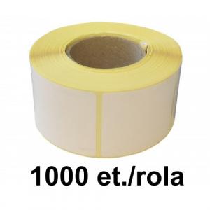 ZINTA Role etichete semilucioase 40x40mm, 1000 et./rola - 40X40X1000-SGP