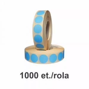 ZINTA Role etichete termice rotunde albastre 40mm, 1000 et./rola - 40X40X1000-TH-ALBASTRU