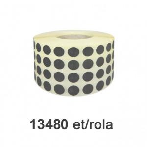 Raflatac-Budaval Role de etichete semilucioase rotunde, PANTONE 415, 10mm, 13.480 et./rola