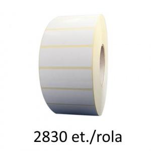 ZINTA Role etichete semilucioase 80x50mm, 2830 et./rola - 80X50X2830-SGP