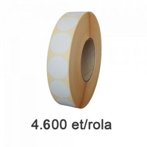Raflatac-Budaval Role de etichete semilucioase rotunde 30mm, 4600 et./rola