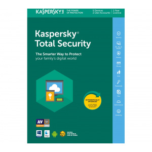 Kaspersky Kaspersky Total Security, Licenta Electronica, 2 ani, 5 echipamente, Renew